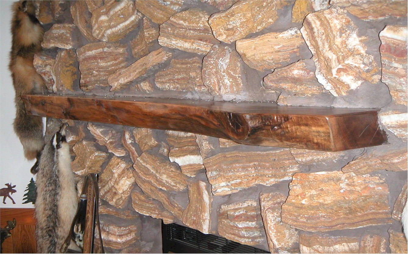 Log Fireplace Mantels